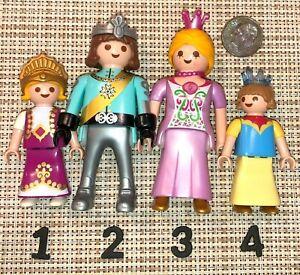 "F1~PLAYMOBIL Pick 1 Castle Princess Prince 3/"" Mini People Figure Miniature Doll"