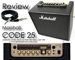 MARSHALL-CODE-25-AMPLIFICATORE-DIGITALE-PER-CHITARRA-25W-EFFETTI-USB-CAVO