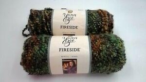 2 Skeins Yarn Bee Fireside yarn  Spanish Olive color  Bulky Yarn