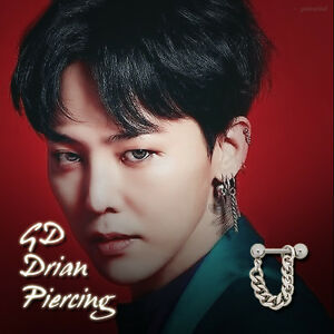 Image Is Loading Bigbang Gd Gdragon Drian Piercing Kpop Style Hot