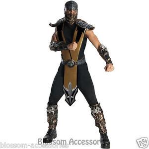 image is loading c321 mens deluxe mortal kombat scorpion fancy ninja