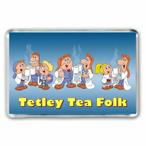 LOCKER MAGNET RETRO  TV ADVERT THE TETLEY TEA FOLK JUMBO FRIDGE