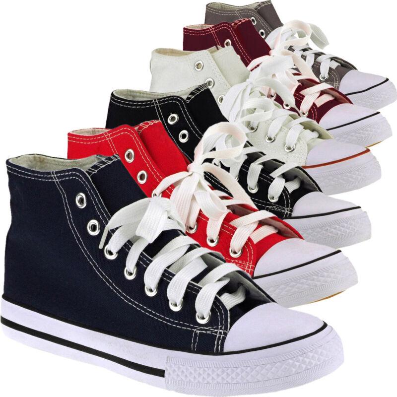 20004 Kultige Sneakers High Top Unisex Textil Freizeit Sportschuhe Damen Herren
