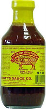 Scott's Spicy Barbecue Sauce 16 oz Sugar Free Fat Free No Carbs Carolina BBQ