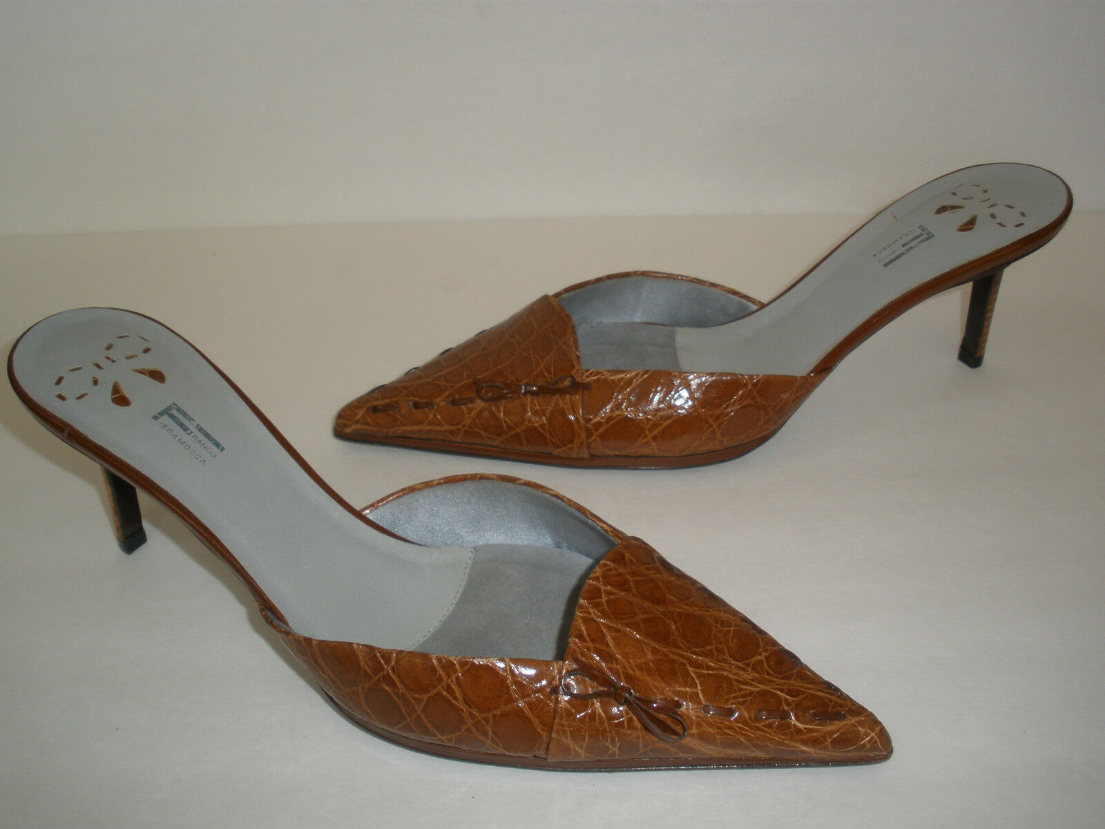 NEW FRANCO FIRAMOSCA LEATHER HEELS US 9.5 EUR 39.5 39.5 39.5 HOT SEXY MADE IN ITALY 017489