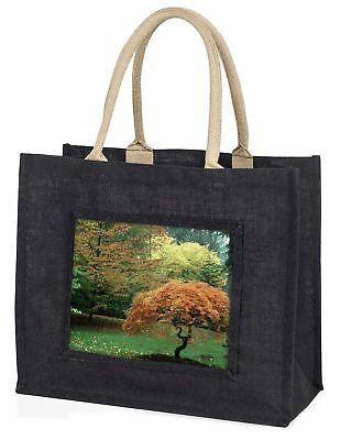 Herbst Bäume große schwarze Einkaufstasche Weihnachten Geschenkidee, fl-4blb