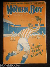 THE MODERN BOY; Pre War Comic, 26th January 1935 Biggles/W E Johns, Mickey Mouse