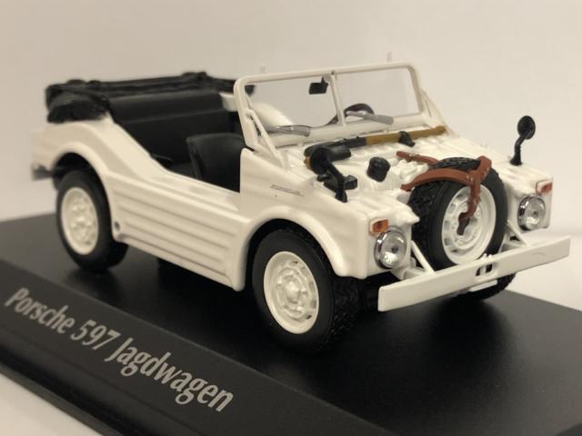 Maxichamps 940065301 1954 Porsche 597 Jagdwagen White 1:43 Scale
