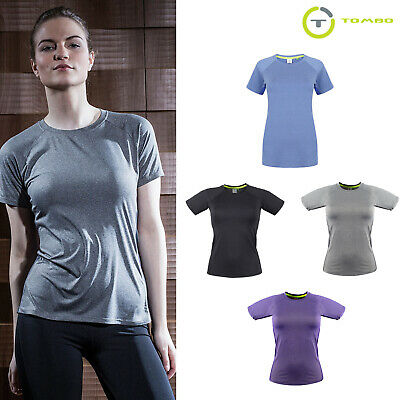 tl516 Costumes Capable Tombo Women's Slim Fit Breathable Training Workout T-shirt