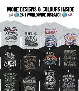 Motorcycle-T-Shirt-Biker-Moto-GP-Indian-Motorbike-Harley-Davidson-Chopper-Honda
