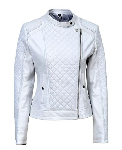 White Ladies Biker Real Luxury Nappa Italian Leather Jacket Design Style OTvHxp6t