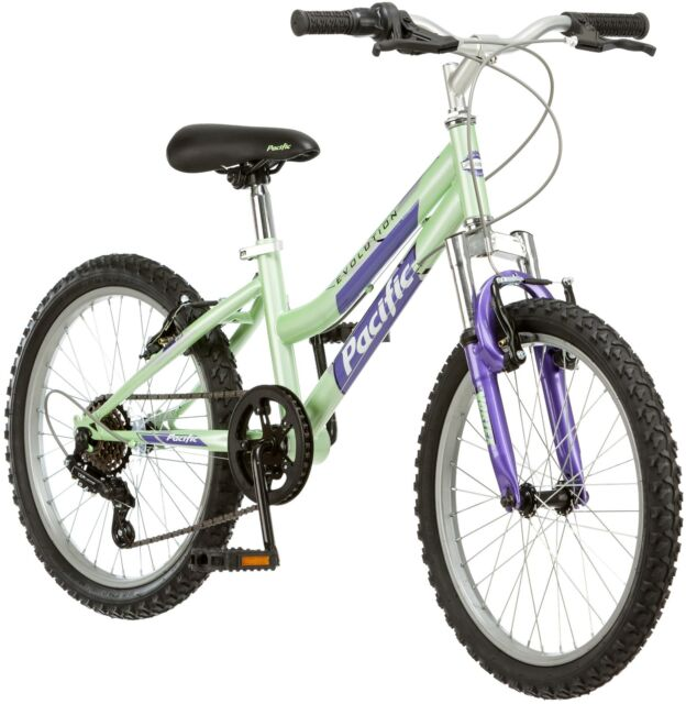 Pacific Evolution 20 Inch Girl\'s Mountain Bike 6 Speed Steel Frame ...