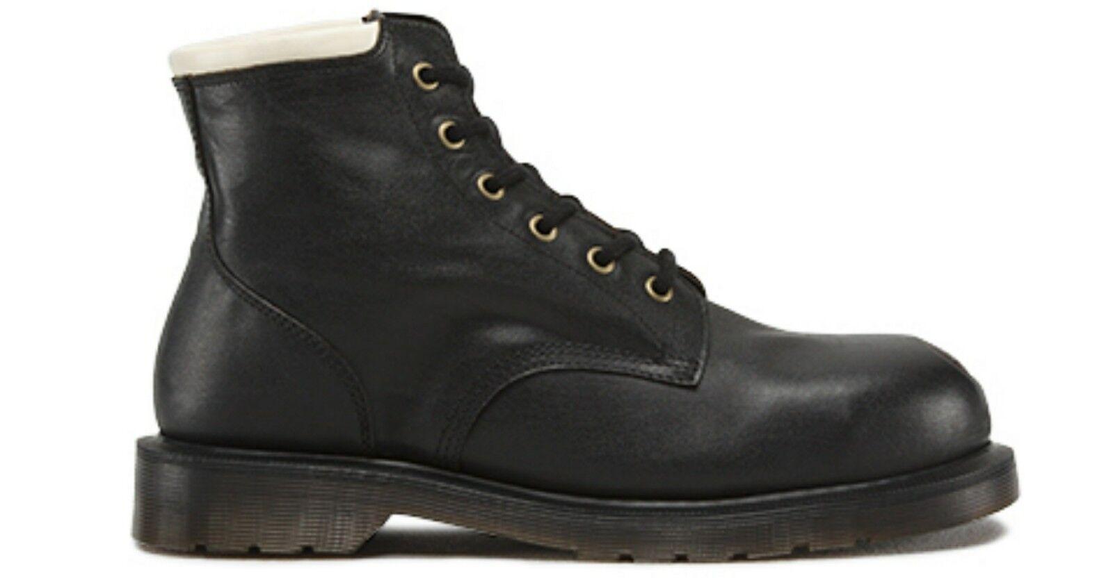 Dr. Martens Tower Black Vintage Steel Toe Boots, US 14, EU 48