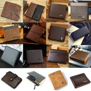 Men/'s Leather Business Wallet Pocket Card Holder Clutch Bifold Money Slim Purse