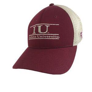 Mens Indiana Hoosiers Stretch Fit Baseball Hat NCAA Cap IU The Game Mesh Back
