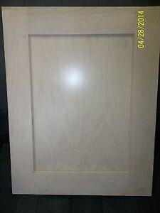 """SHAKER PAINT GRADE MAPLE CABINET DOOR, 17 1/2"""" X 40 3/4"""", NEW"""