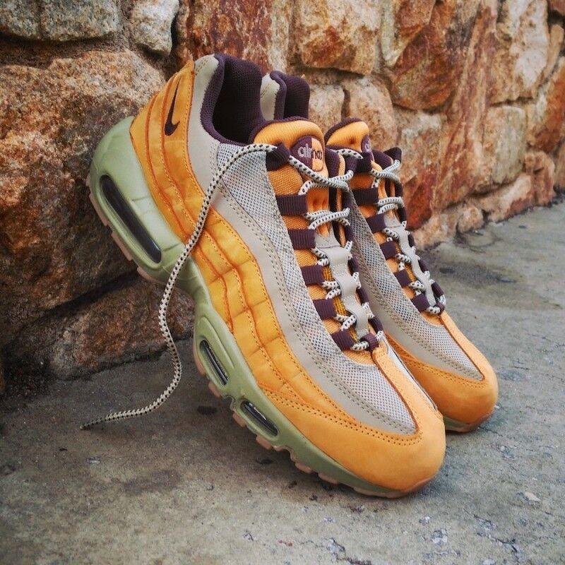 Nike air max 95 ridotta pelle scatola!! grano uomini nuovi senza scatola!! pelle 5960c7