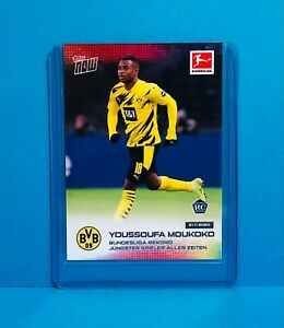 2020 Topps Now Bundesliga Rookie Card Youssoufa Moukoko record debut PRE-ORDER