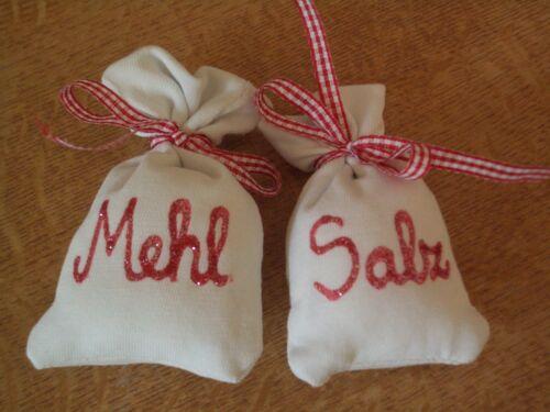 Shop Accessories 2 Sachets Flour Salt Handmade