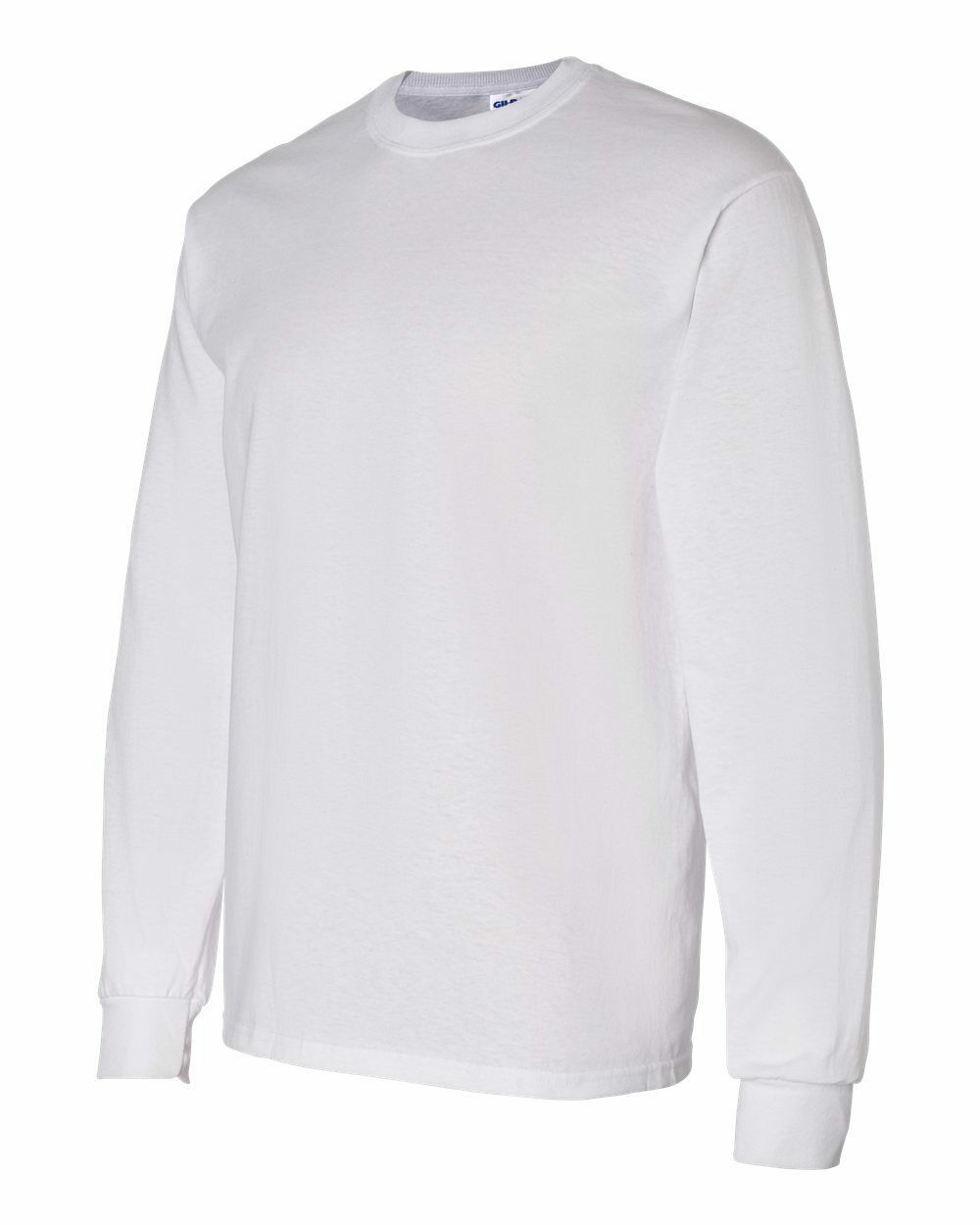 6 BLANK Weiß GILDAN Long Sleeve T-Shirts Heavyweight S M L XL 2XL 3XL BULK LOT