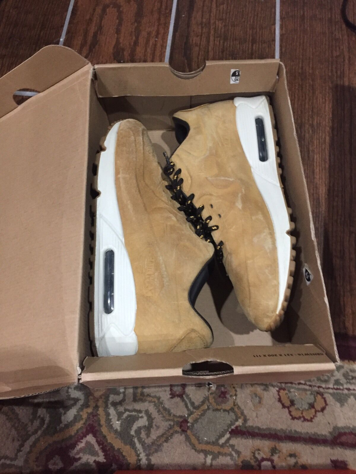 NIKE AIR MAX 90 PRM VT QS SZ 8.5 WHEAT HAYSTACK BIRCH NUBUCK 486988 700