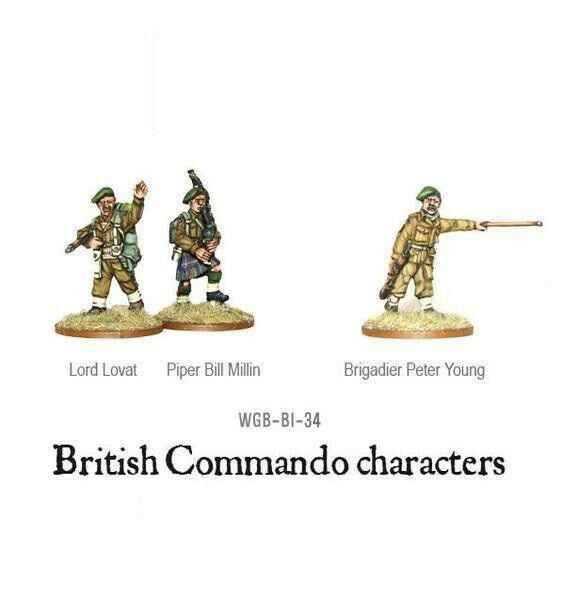 British Commando Characters Bolt Action Warlord Games 28mm
