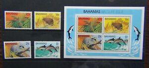 Bahamas-1982-Fauna-Selvatica-2nd-serie-Mammiferi-Set-amp-in-miniatura-foglio-Gomma-integra-non