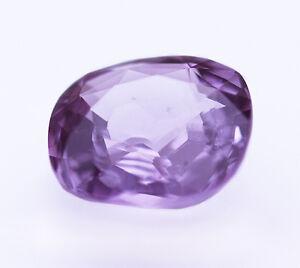 1.38ct Pure Purple Taaffeite; Sri Lanka GIA Cert. Clean, Transparent Cushion Cut