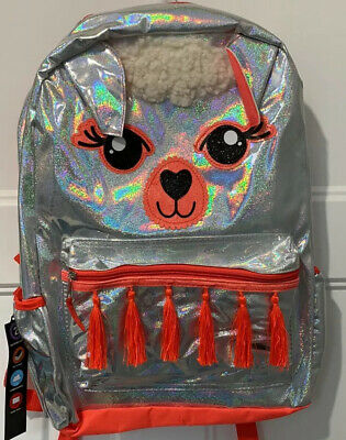 """New Acessories 22 Plush Rainbow Llama 16/"""" Backpack Officially US Licensed NWT"""