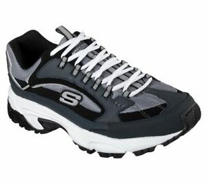 Skechers-shoes-Navy-Black-Wide-Fit-Men-Memory-Foam-Sporty-Training-Sneaker-51286