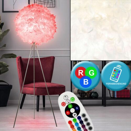 RGB LED Steh Lampe Feder Kugel Schlaf Zimmer Decken Stativ Fluter FERNBEDIENUNG