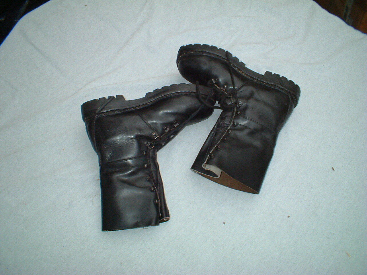 Austrian Walking combat - Stiefel  Leder Mountain Army Surplus - combat Fully Lined 7937f1