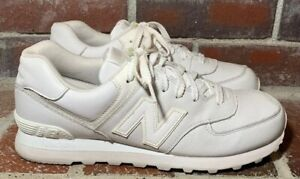 new balance 574 all white leather