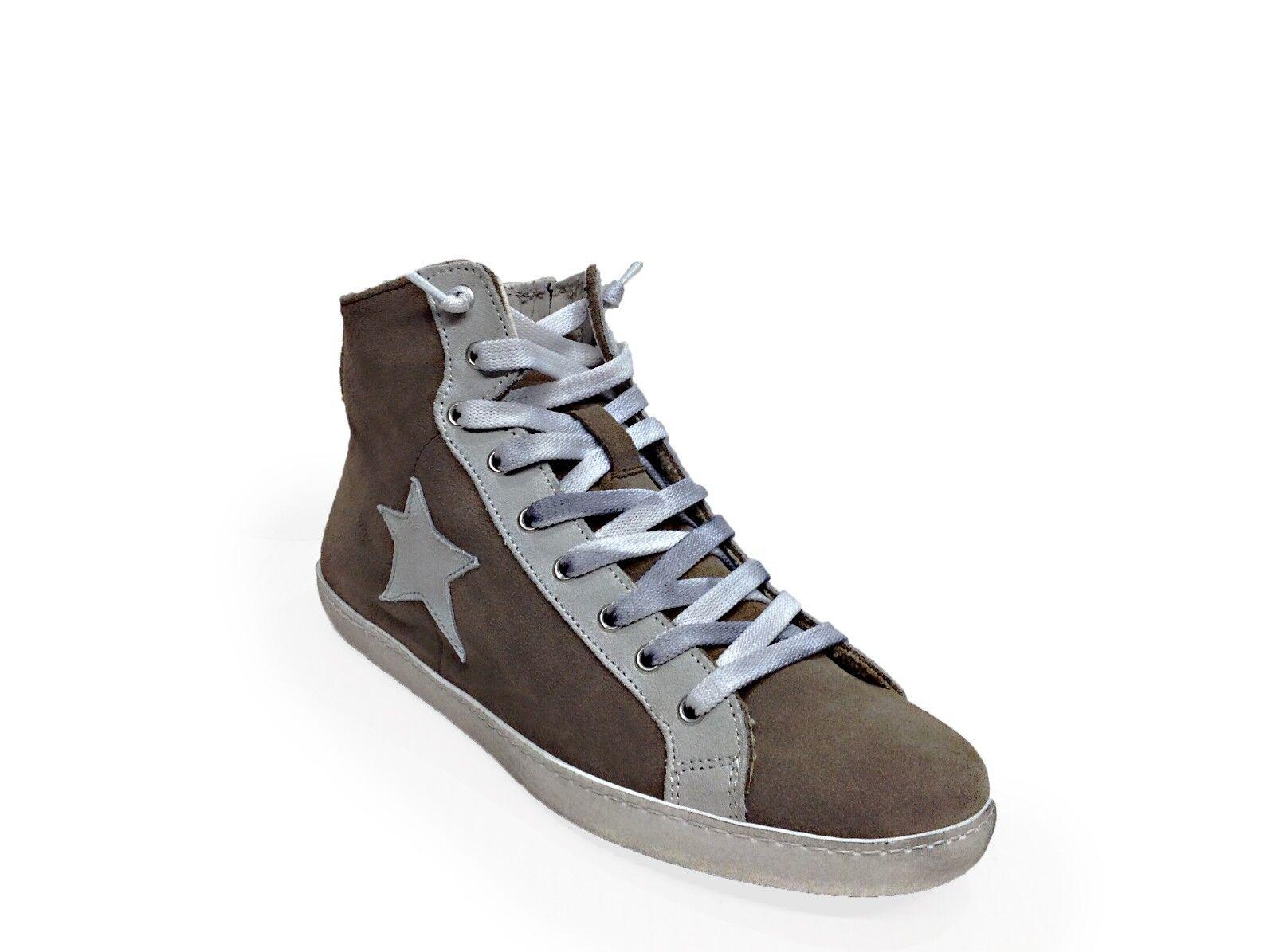 punto vendita Scarpe Scarpe Scarpe scarpe da ginnastica alte uomo Via Condotti taupe stella ghiaccio made in italy  acquista marca
