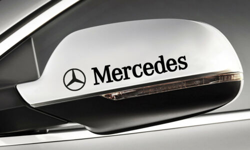 Farbwahl 30 Mercedes+Stern Türgriff Spiegel Felgen Aufkleber 140mm 4er Set