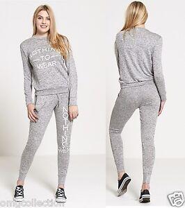donna-nuovo-donna-NOTHING-TO-WEAR-2PC-suit-loungewear-Set-da-corsa-tuta