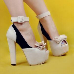 Women-Platform-Chunky-Heels-Pump-Strappy-Open-Toe-Sandals-Casual-Shoes-Plus-Size