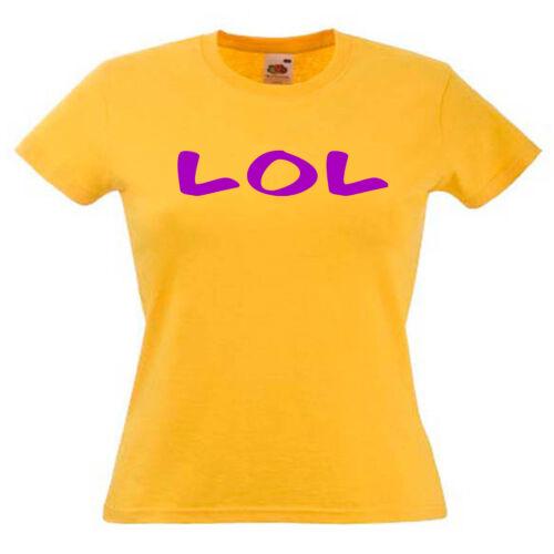 LOL rire aux éclats Mesdames Lady Fit T Shirt 13 coloris taille 6-16