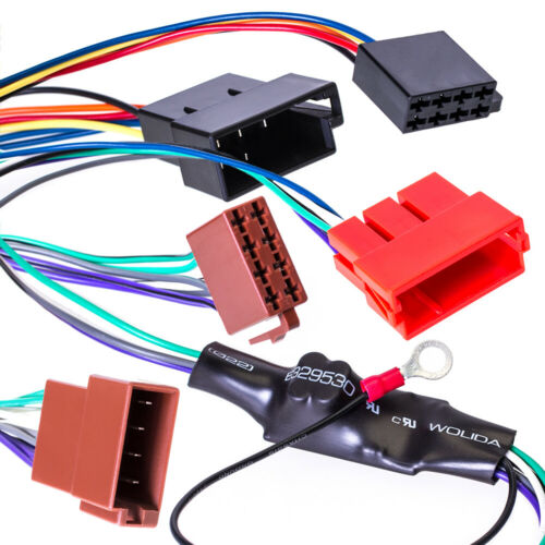 Für VW Audi Seat Skoda Aktiv Lautsprecher System an NORMALES RADIO Adapter Kabel