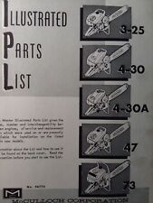 Mcculloch Chain Saw 3 25 4 30 4 30a 47 73 Master Parts Manual 2 Cycle Gasoline