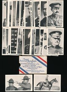 1916-W641-Universal-Photo-Studios-ALLIED-GENERALS-Near-Set-Box-39-of-40-RARE