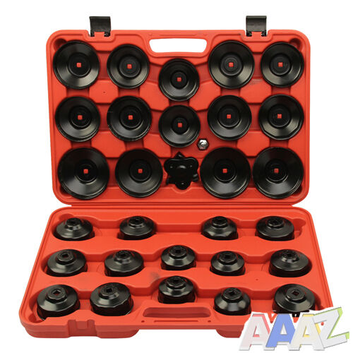 31pc Oil Filter Removal Wrench Cap Car Garage Tool Set Loosen Tighten Cup Socket