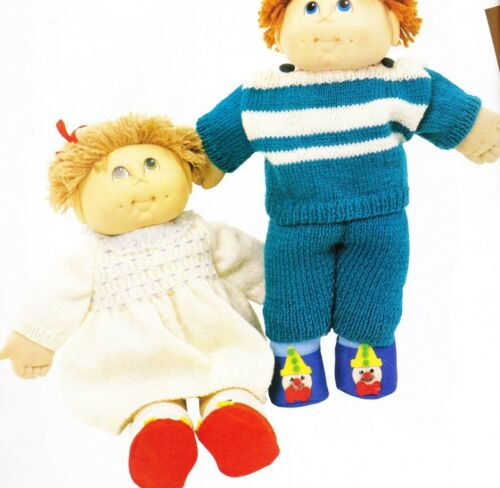 CABBAGE PATCH boy & girl set 8ply or DK COPY doll knitting patterns