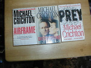 3  MICHAEL CRICHTON  PAPERBACKS a must read - <span itemprop=availableAtOrFrom>Stockport, United Kingdom</span> - 3  MICHAEL CRICHTON  PAPERBACKS a must read - Stockport, United Kingdom