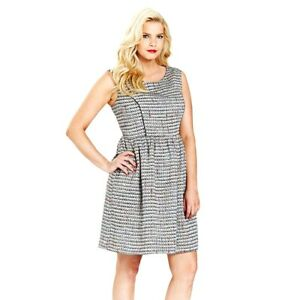 SimplyBe-Womens-Boucle-Skater-Dress-Ladies-Tweed-Office-Evening-Dress-Size-12-22