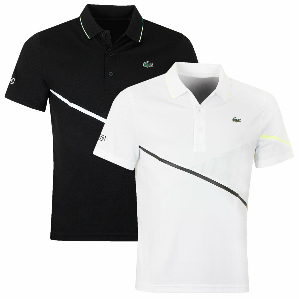 Lacoste Mens 2019 Short Sleeve Ribbed Collar 3 Button Polo Shirt 26% OFF RRP
