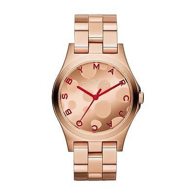BRAND NEW LADIES MARC BY MARC JACOBS ROSE GOLD HENRY WATCH MBM3268