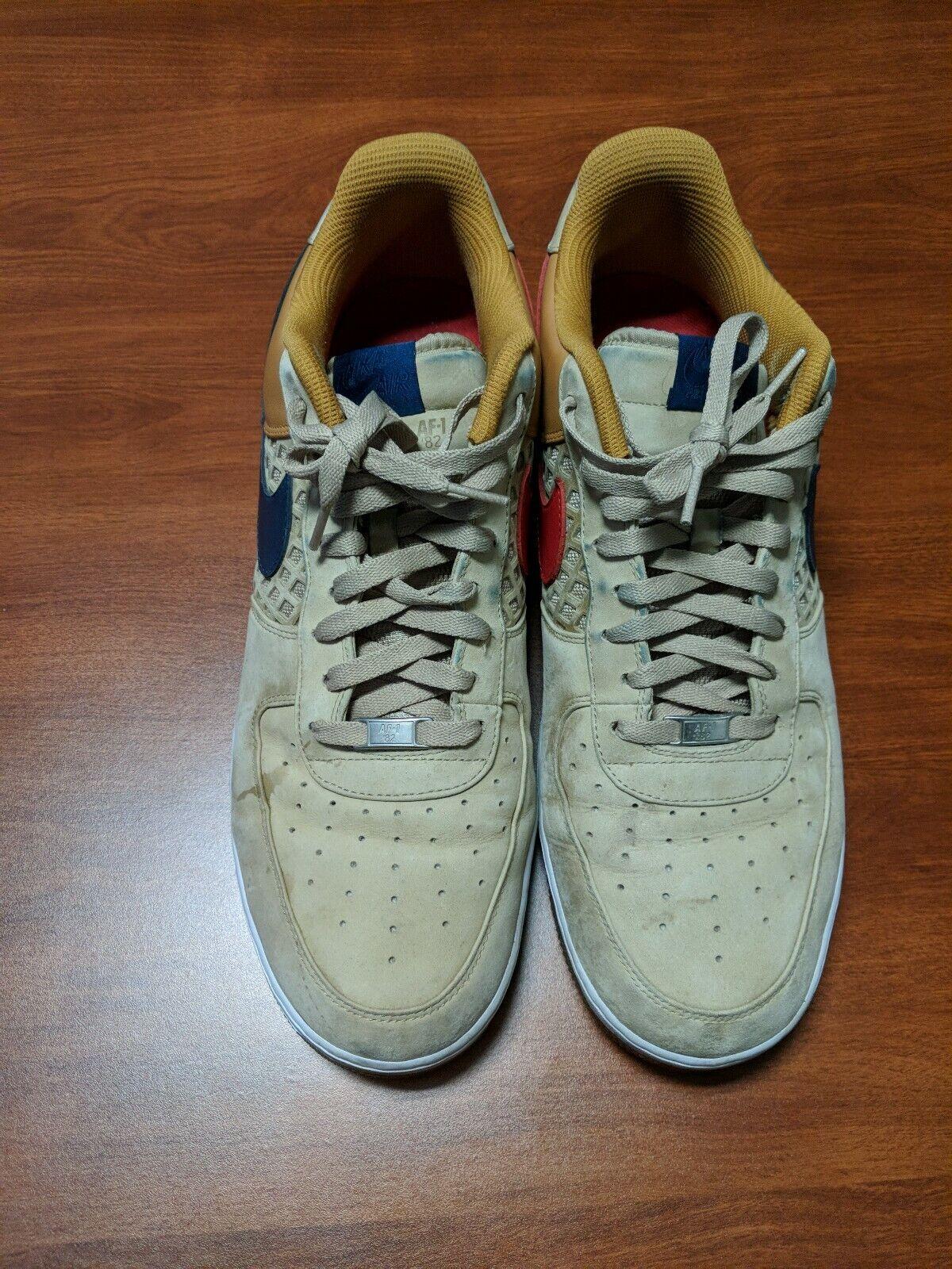 Mens Nike Air Force 1 Premium 2008 Beijing Tweed shoes size 16 US 318775-241