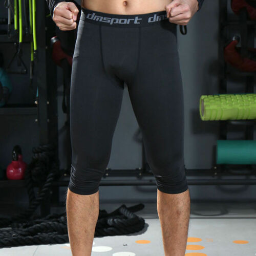 Mens Compression Base Layer Tops Running Gym Trousers Sports Shirts Leggings OP