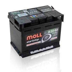 Moll EFB 82060 Start Stopp Autobatterie Starterbatterie 60Ah *einsatzbereit*